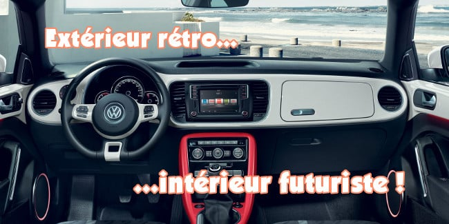 volkswagen coccinelle cabriolet interieur