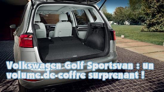 volkswagen sportsvan volume coffre